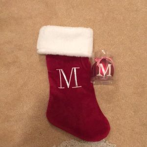Stocking and ornament gift set